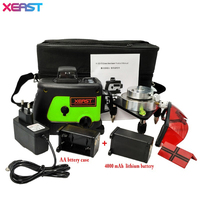 Professional XEAST Laser Level 360 12 Line Green 3D Laser Level Self Leveling Cross Line 3D