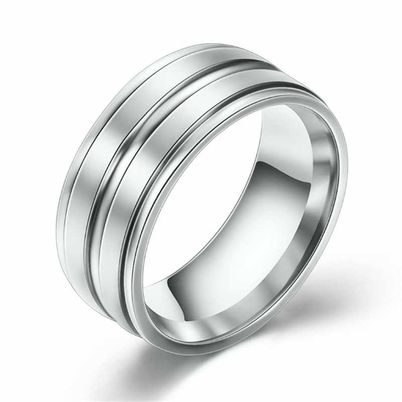 LETAPI Stainless Steel Wedding Rings For Women Three Colors Trendy Fashion Jewelry For Men Women Party Jewelry Dropshipping