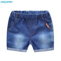 Cutyome Trẻ Em Mùa Hè Quần 2017 Nóng Bán Hàng Cotton Denim Jeans quần short cho Bé Trai Từ 1-5 Tuổi Toddler Kids Jeans quần