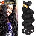 3 peça ondulado brasileiro virgem do cabelo com fechamento onda do corpo feixes de cabelo brasileiros feixes de cabelo humano com fechamento naturais
