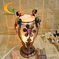 Lâmpada quarto lâmpada de mesa lâmpada de cristal de sal do himalaia s luz ajustável lâmpada de mesa lâmpada de cabeceira moda criativa