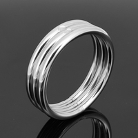 thickness 5mm stainless cock ring delay ejaculation penis ring metal male sex sc