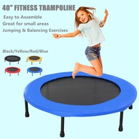 40 inch Round Mini Trampoline Fitness Rebounder Jogger Home Gym Exercise Sports Protective Gear