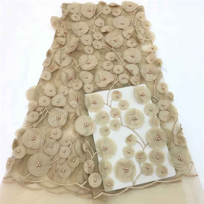 Wdzięku koronki ślubne 2018 Afryki Koronki Tkaniny Wysokiej - Sztuka, rękodzieło i szycie - Zdjęcie 5