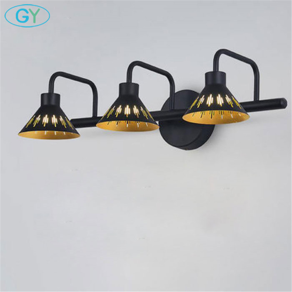 Minimalist Metal Shade Led Vanity Lighting Black Gold 5w 10w 15w 20w Bathroom Led Mirror Lights Dressing Table Make Up Led Lam Vanity Lights Aliexpress