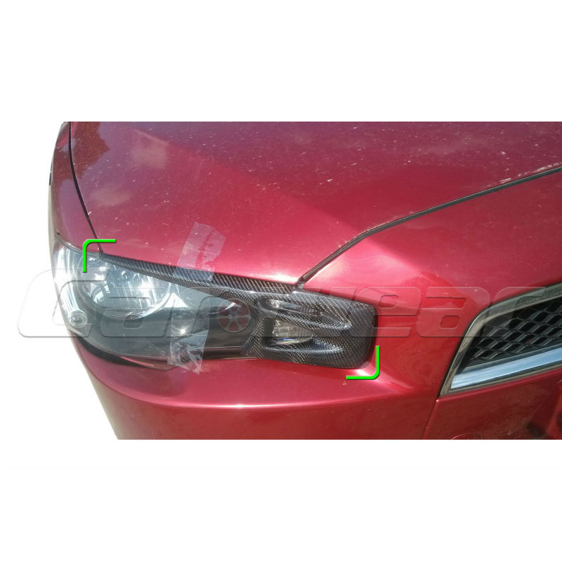 2008-2014 for Mitsubishi Lancer EVO X 10 Carbon Fiber Eyebrows Eyelids Headlight стоимость