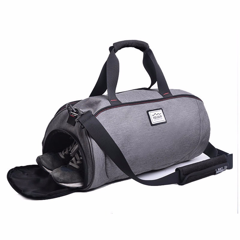 Large Capacity Travel Luggage Bags Letter Printing Sports Gym Bag Lady Training Handbag For Men Over The Shoulder Gray Xa559wd Emergency Kits