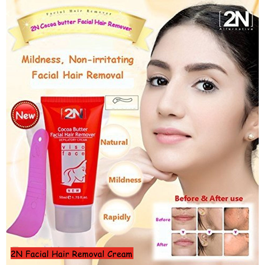 Permanent Facial Hair Remover Face Whitening Depilatory Cream