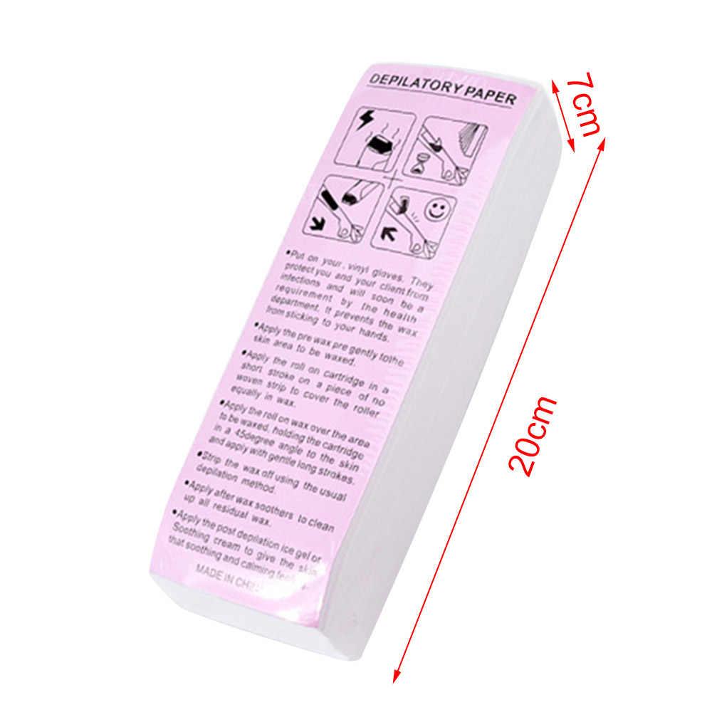100 ADET Özel balmumu şerit Kağıt Tıraş Tek Kullanımlık epilasyon balmumu kalın dokunmamış kumaş Balmumu tüy dökücü yardımcı kağıt