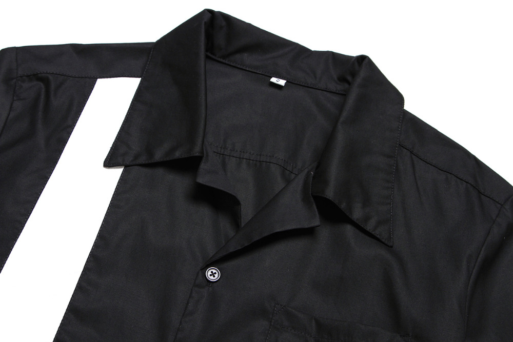 Top-Markenhemd aus Baumwolle im neuen Stil mit Stickerei Rockabilly - Herrenbekleidung - Foto 3