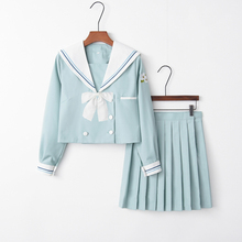 UPHYD Japanese Schoolgirl Uniforms Sailor Suit Summer School Uniform Class Suit Korea Navy Wind COS Suit