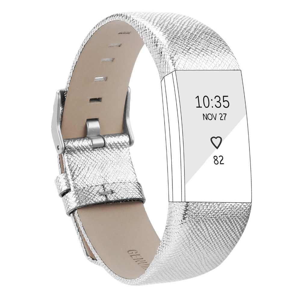 Ремешок для fitbit charge 2, кожаный браслет с ремешком, розовое золото, серебристый цвет, кожаный браслет с ремешком