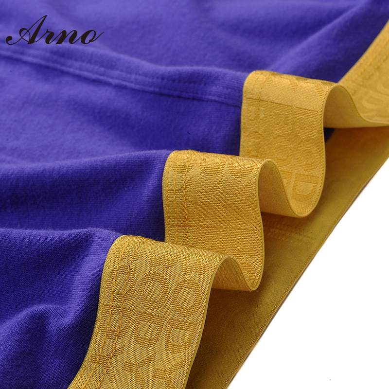 ARNO 4 Pcs Pack Gifts Brand Boxers Men Underwear Sexy Cotton Underwear Mens Boxer Underpants MTU50902 4 in Boxers from Underwear Sleepwears