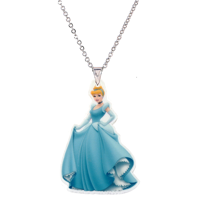 Big size cartoon princess acrylic necklaces pendants for girls big size cartoon princess acrylic necklaces pendants for girls silver chain flatback planar resin childrens mozeypictures Image collections