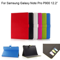 "For Samsung Galaxy Note Pro P900 12.2"" tablet case cover with wallet card slot stand case protective cover+screen film+pen+TOG"