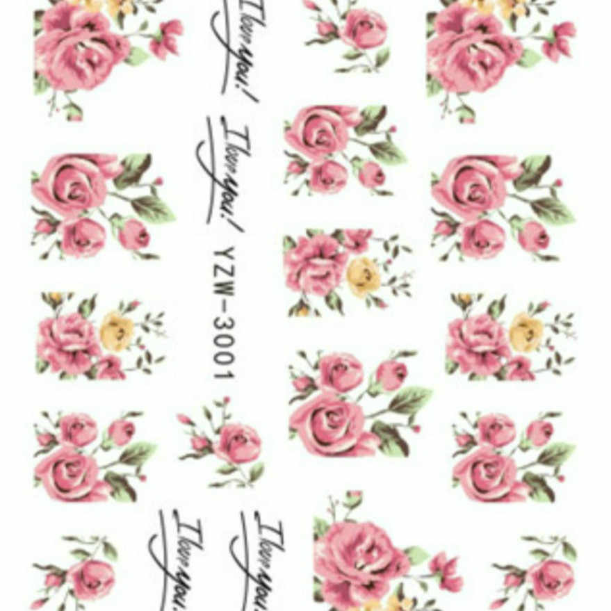 1 Pcs Sell Flowers Rose Nail Art Template Stamp Stamping Image Plate Stainless Steel Nail Template Manicure Stencil Tools