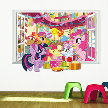 3D Little Pony Themed Wall Sticker