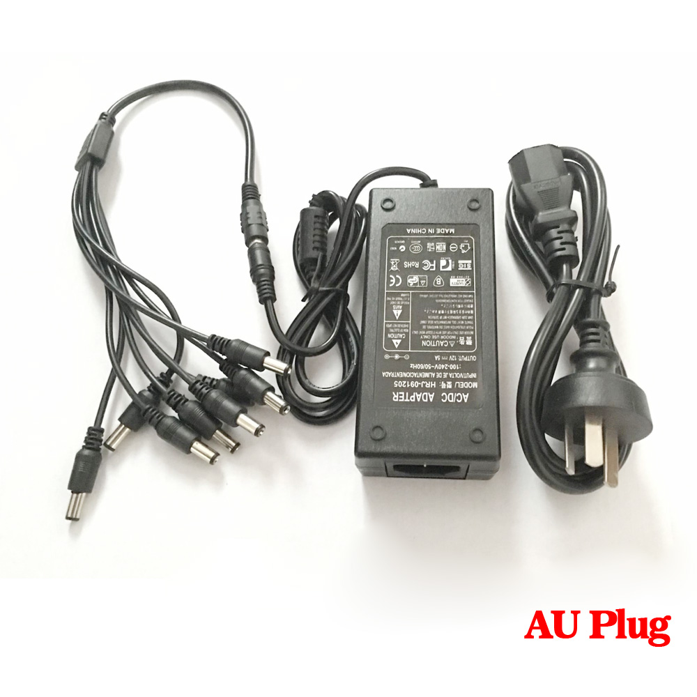 CCTV  Camera Power Supply Splitter 12V 2.1mm Female to 2 4 6 8UK DC Y Cable