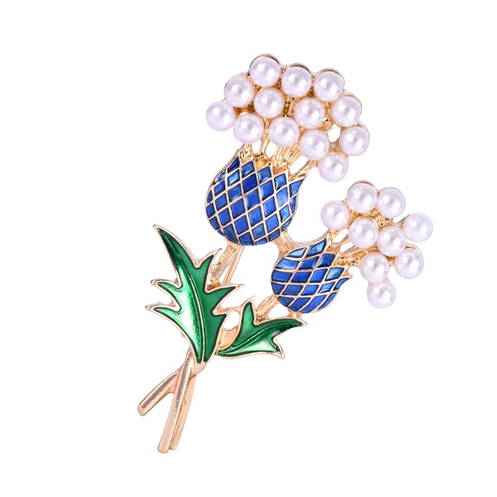 New hot sale Elegant Women Enamel Pineapple Tree Brooch Suit Pin Simulated Pearls Fashion Collar Corsage Shirt brooch gift
