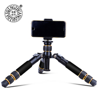 Q166A Mini Tripod Mount use with Phone Holder Clip Desktop Monopod for Iphone 5 5s 5c Se 6 6s Plus Dslr Digital Camera Stand