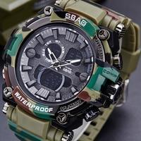 Camouflage Men Analog Digital Leather Sports Watches Men S Army Military Watch Man Quartz Clock Camo