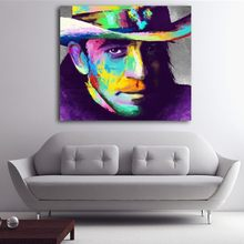 Framed Spray Canvas Painting Abstract Portrait Oil Paint Figure Wall Art Pictures Home Decoration(China)