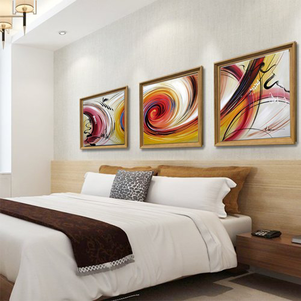 3 piece canvas wall art modern paintings handmade oil - Oil painting ideas for living room ...