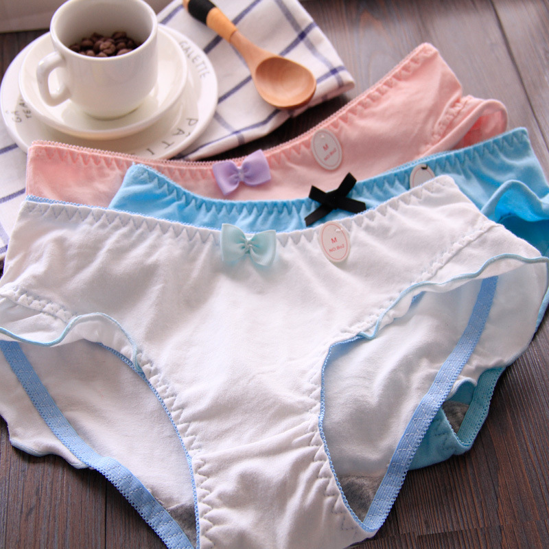 4e9540bc24  La MaxPa  High-end 6pcs Woman Underwear Women s Cotton Briefs Solid Cute  Bow Low-Rise Sexy Ladies Girls Panties Lingerie M L XL