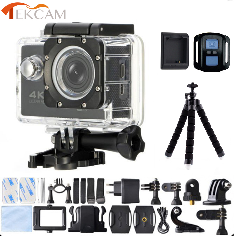 лучшая цена Tekcam 16MP 4K Action Camera 30M Underwater Sport Camera with Octopus Tripod and Charger for Christmas Gift