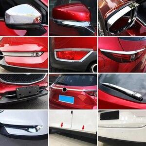 Image 2 - Dla Mazda CX 5 CX5 KF 2017 2018 2019 Chrome przednie tylne światło przeciwmgielne Taillight boczne lustro listwa przykrywająca dekoracji samochodu stylizacji
