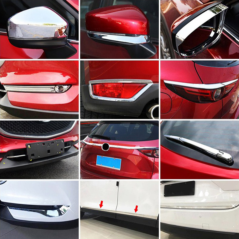 Image 2 - For Mazda CX 5 CX5 KF 2017 2018 2019 Chrome Front Rear Fog Light Taillight Side Mirror Trim Cover Strip Decoration Car Styling-in Chromium Styling from Automobiles & Motorcycles