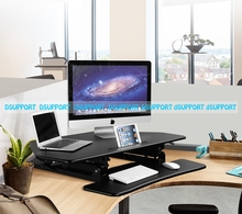 Loctek M2 Cornored Height Adjustable Sit Stand Desk Riser Foldable Laptop Desk Notebook/Monitor Holder Stand With Keyboard Tray