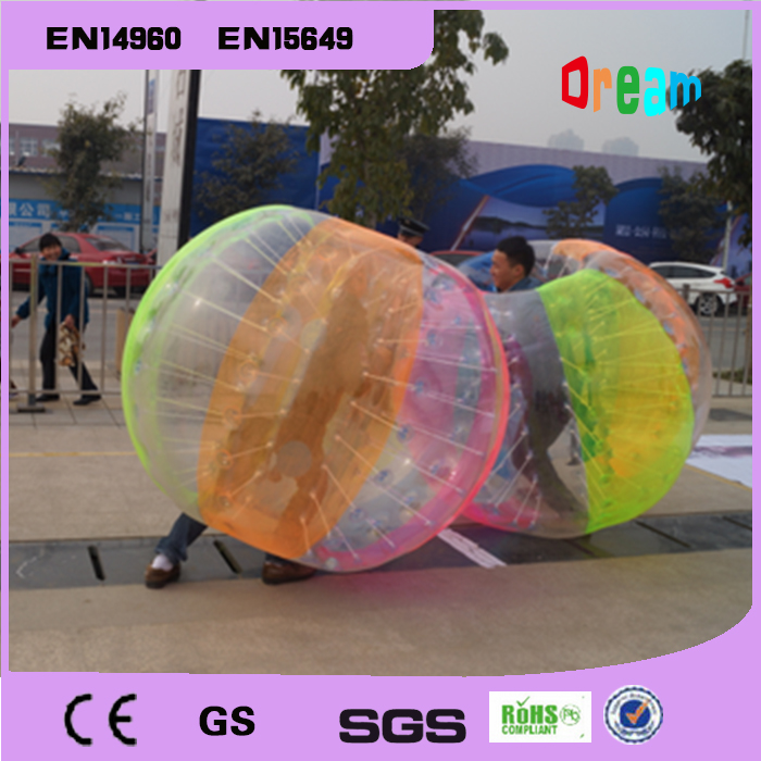 Gratis forsendelse 1.5m Hot Sale Opustelig fodboldpakning Oppustelig Zorb Bumper Ball Bubble Soccer Ball Body Zorb Ball Bubble Ball