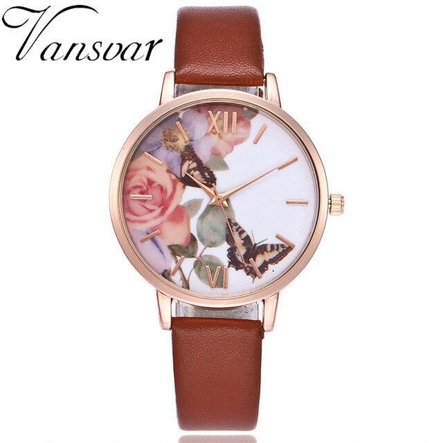 New Fashion Quartz Watch Casual Women Butterfly Wristwatch Luxury Bracelet Watch Leather Watch Relogio Feminino Drop Shipping