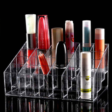 24 Lipstick Holder Display Stand Clear Acrylic Cosmetic Organizer Makeup Case Sundry Storage makeup organizer organizador