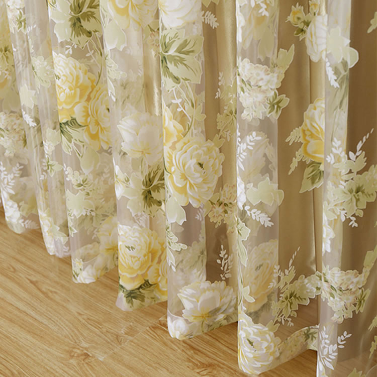 Hot Sale Luxury Tulle Curtains For The Bedroom Living Room