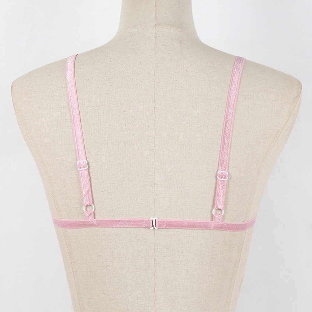 Sujetador elegante lencería Sexy ropa interior cómoda sin alambre sujetadores de verano para mujer Bralette sin costuras