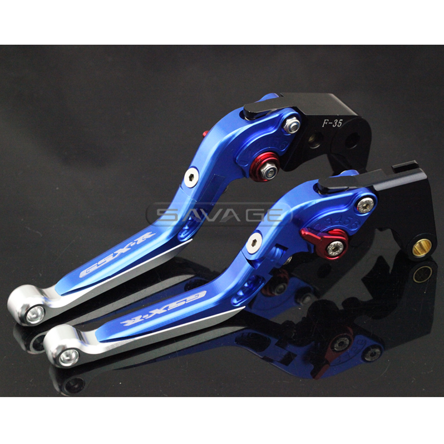 For SUZUKI GSXR 600/750 GSXR600 GSXR750 06-10, GSXR1000 05-06 Motorcycle Adjustable Folding Extendable Brake Clutch Lever Blue alu new folding billet adjustable brake clutch levers for suzuki gsxr 600 750 1000 gsxr600 gsxr750 gsxr1000 09 10 11 12 13 14 15