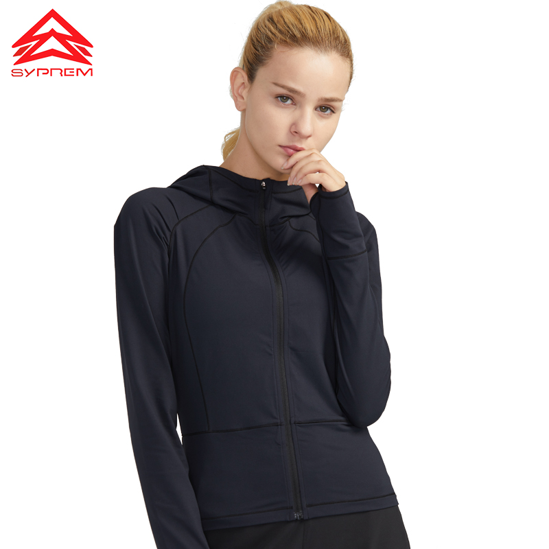 Vansydical Windjacke Sport Mantel-frauen Langarm Tops Thermische Winddicht Sportswear Mit Kapuze Outdoor Training Läuft Jacken Sport & Unterhaltung