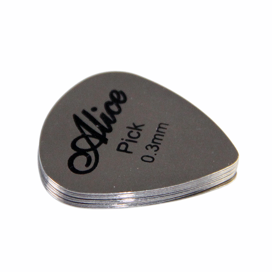 Alice AP-12S Matte Clear Guitar Picks Plectrum 0.3 mm Metal guitar picks 12pcs/set