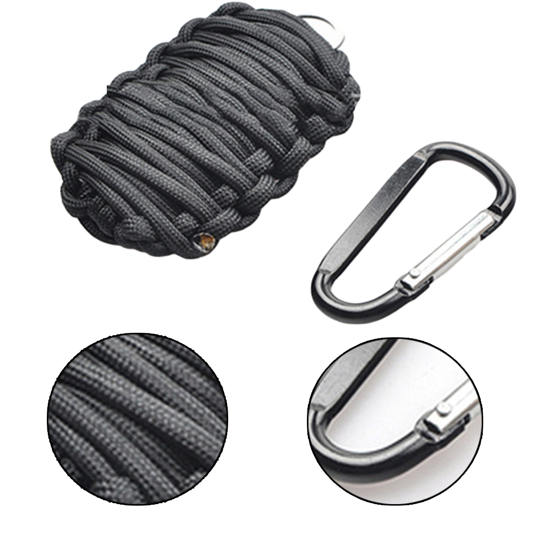 NEW 2018 Outdoor Survival Multifunction Survival Kit Carabiner Paracord Fishing Emergency Gear Set Camping Outdoor Hiking