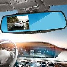 1080 P Автомобильный видеорегистратор Видеорегистраторы Камера регистратор регистраторы 2.8 дюймов зеркало заднего вида цифровой видеомагнитофон G-Сенсор ночь видения видеокамеры