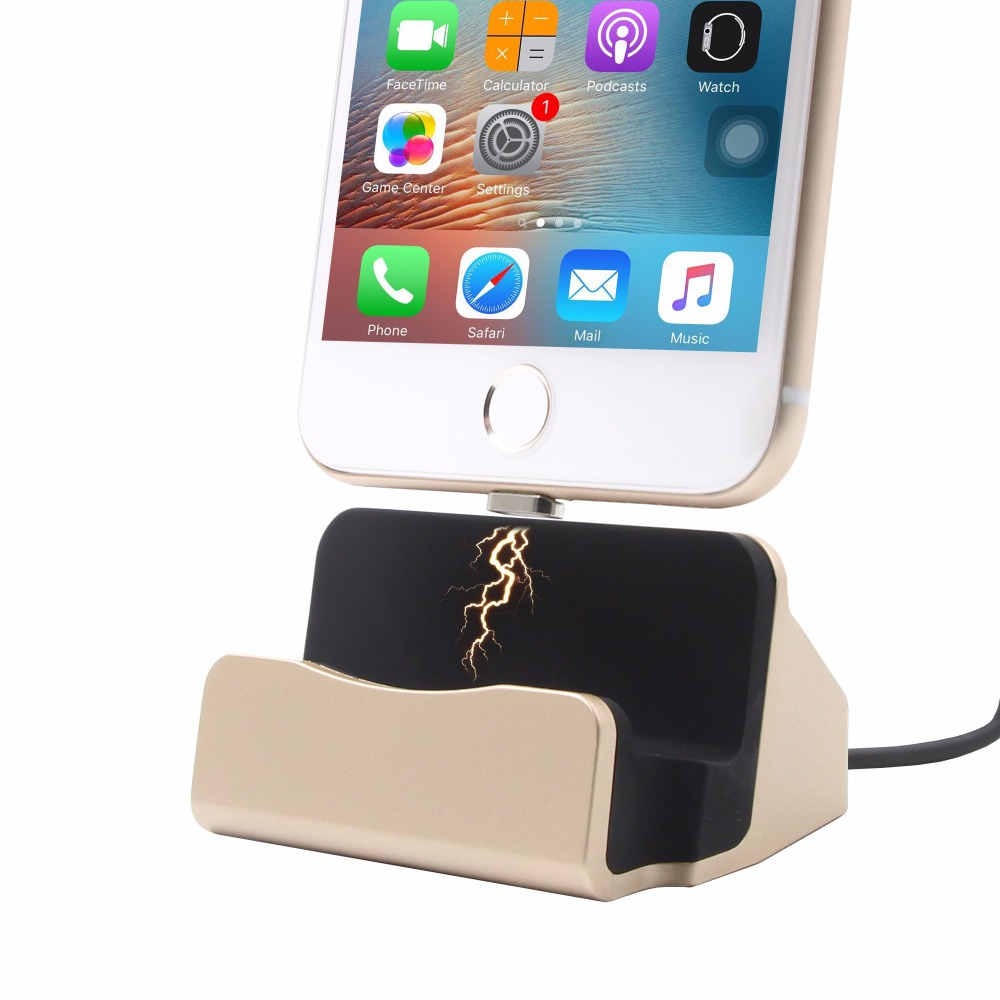 3 in 1 Sync Data Charging Magnetic <font><b>Charger</b></font> USB Cable Dock Station Desktop Docking For iPhone 5 SE 6 7 Plus iPod Android Type C