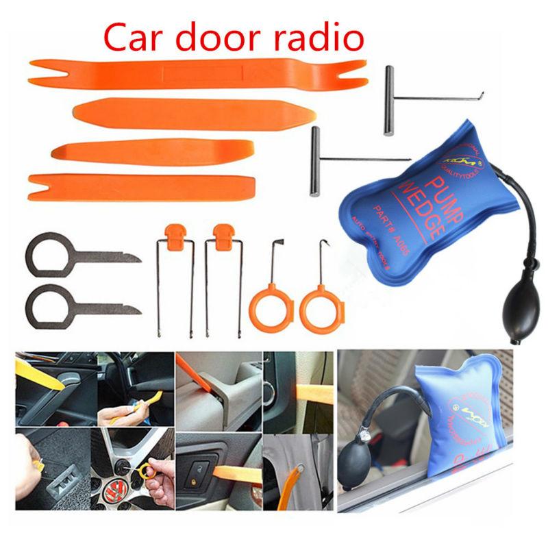 PDR Werkzeug KLOM Pumpe Air Wedge mit Tür Clip Panel Trim Dash Audio Removal Öffnen Installer Hebel-werkzeug Für Fahrzeug auto