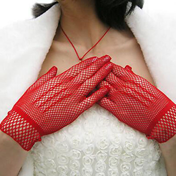2017 Fashion New Fishnet Mesh Gloves Fashion Women Gloves Summer  Protection Lace Elegant Lady Style Gloves Foe Woman