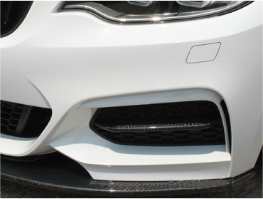 Car styling AP Style Carbon Fiber Front Bumper Duct Insert Glossy Finish Splitter Kit Tuning Trim Fit For BMW F22 2 Series-in Body Kits from Automobiles & Motorcycles    2