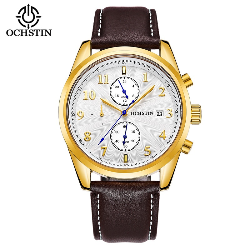 OCHSTIN Luxury Brand Watch Men Chronograph Date Quartz Wrist Watch for Male Clock Waterproof Sport Watch Gifts relogio masculino