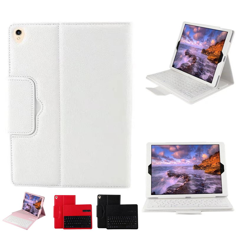 New 2017 For iPad Pro 12.9 Magnetically Detachable ABS Bluetooth Keyboard Portfolio Folio PU Leather Case Cover for ipad pro 12 9 keyboard case magnetic detachable wireless bluetooth keyboard cover folio pu leather case for ipad 12 9 cover