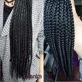 Expression braiding hair  synthetic braiding hair  jumbo braid hair 20pcs for one pack box braid crochet hair extension