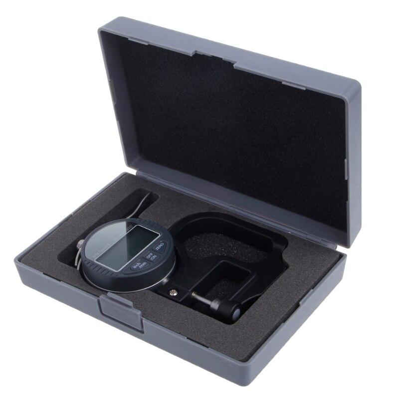 0-12,7 мм Электронный микрометр цифровой Толщина метр колеи 0,01 мм Глубина тестер